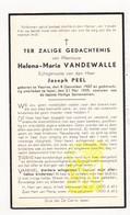DP Helena M. VandeWalle ° Veurne 1907 † Ieper 1939 X Joseph Peel - Images Religieuses