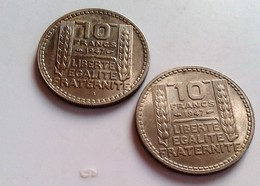"""FRANCE - PIÈCE 10 FRANCS """" TURIN - 1947 ET 1947 B """" GROSSE TETE   ((B914) - France"""