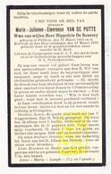 DP Marie J. Van De Putte ° Pittem 1854 † Kortrijk 1934 X Hippolyte De Bouvery - Images Religieuses