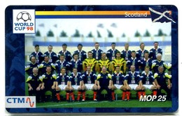 Macau CTM Chip Card - Football World Cup 98 - Scotland RR - Macau
