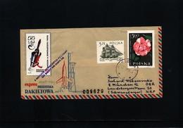Poland 1966 Interesting Rocket Letter - 1944-.... Republik