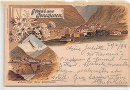 Gruss Aus Goeschenen - Litho 1898 - UR Uri
