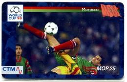 Macau CTM Chip Card - Football World Cup 98 - Morocco RR - Macau