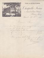 75 Paris - Vins & Spiritueux Chapelle Frères.Lettre Avec  Belle Illustration De 1891. Tb état. - 1800 – 1899