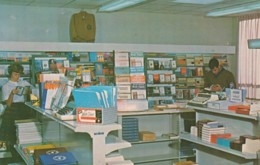 Jamestown New York, Jamestown Community College Bookstore Interior View, C1950s/60s Vintage Postcard - NY - New York
