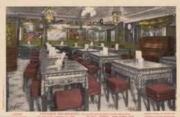 New York City, Chinese Delmonico Restaurant, Ladies Dining Room Interior View C1900s/10s Vintage Postcard - Bars, Hotels & Restaurants