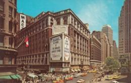 New York City, Herald Square Street Scene 34th St 7 Ave Of Americas, Macy's Department Store C1960s Vintage Postcard - Manhattan