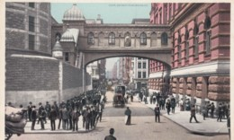 New York City, Bridge Of Sighs, The Tombs New York Prison, Street Scene C1900s Vintage Detroit Publishing Postcard - Manhattan