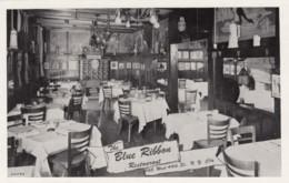 New York City, Blue Ribbon Restaurant Interior View, 145 W. 44th Street, C1920s/30s Vintage Postcard - Bars, Hotels & Restaurants