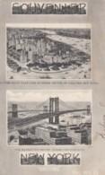 New York City, Souvenir Greetings From New York, Manhattan Bridge Under Construction, C1900s/10s Vintage Postcard - Manhattan