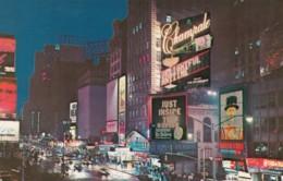 New York City, Times Square Night Street Scene, Advertisement Billboards Champale Wine, C1970s Vintage Postcard - Time Square