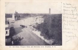 Brooklyn New York, Circle Prospect Park Street Scene, Street Car, C1900s Vintage Postcard - Brooklyn