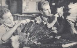 Wingdale New York, Camp Siwanoy Craft Lodge, Boys Make Indian Headress, C1940s Vintage Postcard - NY - New York