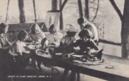Arden New York, Camp Lenoloc Craft Making Girls Make Arts Crafts, C1940s/50s Vintage Postcard - NY - New York