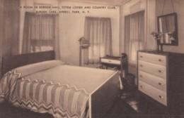 Averill Park New York, Totem Lodge & Country Club Burden Lake, Room Interior View, C1940s/50s Vintage Postcard - NY - New York