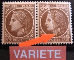 R1949/6 - 1945 - CERES De MAZELIN N°681 TIMBRES NEUFS** - VARIETE ➤➤➤ Pli Accordèon - Errors & Oddities