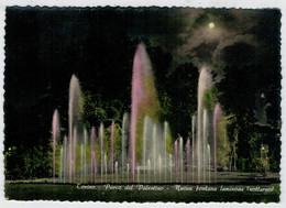 TORINO   PARCO  DEL  VALENTINO  NUOVA  FONTANA  LUMINOSA   NOTTURNO       (VIAGGIATA) - Parcs & Jardins