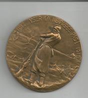 Médaille En Bronze -guerre 14-18 -hommage-titulaire Croix De Feu -diam 65mm - Belgique
