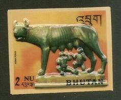 Bhutan 1971 She Wolf Suckling History Of Sculpture Plastic Moulded Sc 126c MNH 5 - Bhutan