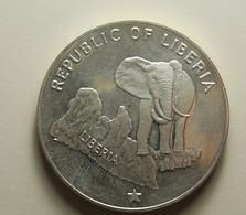 Liberia 5 Dollars 1975 Silver Proof - Liberia