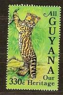 Guyana Guyane 1985 Yvertn° 1118 *** MNH Cote 22 FF Faune Chats Sauvage Wilde Katten Cats - Guyane (1966-...)
