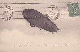 83 / LE DIRIGEABLE L72 SURVOLANT CENTRE D'AEROSTATION CUERS PIERREFEU - Cuers