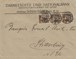 Allemagne Timbres Perforés Sur Lettre Inflation Berlin Pour Strasbourg 1923 - Allemagne