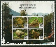 Bhutan 2019 Red Panda Wildlife Animals Species Langur Rihno Sheetlet MNH # 9089 - Bhutan