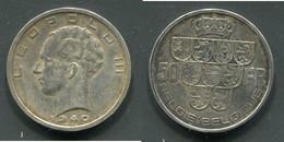 BELGIQUE - LEOPOLD III - 50 F 1940 - 1934-1945: Leopold III
