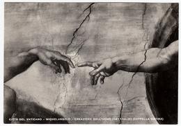 CITTA' DEL VATICANO - MICHELANGELO - CREAZIONE DELL'UOMO (DETTAGLIO) (CAPPELLA SISTINA) - 12966 - Pittura & Quadri