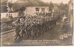 L200A472 - Fanfare, Funérailles Militaires, Armée Allemande, Village De L'Aisne - R.Senneke N°3036 - Personnages