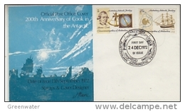 AAT 1972 200th Anniversary Of Cook In The Antarctic 2v  FDC Ca Mawson  (41886) - FDC