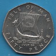 ISLE OF MAN 50 PENCE 1979 DAY OF TYNWALD JULY 5th KM# 53 - Monnaies Régionales