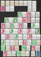 France Lot De 75 TP Timbres Roulettes Neufs **  Roulette Avec Et Sans N° . Liste N° Yvert  - Variétés -  Bon Lot Varié - Stamps