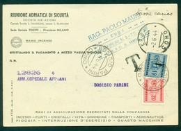 Z1019 ITALIA RSI 1944 Cartolina Commerciale Con Tassa A Carico, Da Erba 2.6.44 Per Bosisio Parini, Tassata In Arrivo - 4. 1944-45 Social Republic