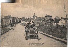 AUTOMOBILE  ....  LA SORTIE DE BOULOIRE ... CIRCUIT DE LA SARTHE 1906 - Camions & Poids Lourds
