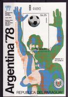 Soccer World Cup 1978 - Football - PARAGUAY - S/S B MNH - 1978 – Argentine