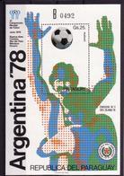 Soccer World Cup 1978 - Football - PARAGUAY - S/S B MNH - Fußball-Weltmeisterschaft