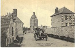 AUTOMOBILE  ....  PASSAGE A CHERRE  ... CIRCUIT DE LA SARTHE 1906 - Camions & Poids Lourds
