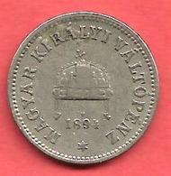 10 Filler , HONGRIE , Nickel , 1894 KB , N° KM # 482 - Hongrie