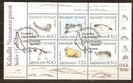 Groenland  Greenland 1991 Yvertn°  Bloc 3 (°) Used Oblitéré Cote 26 Euro Faune Marine - Blocs