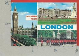 CARTOLINA VG REGNO UNITO - Souvenir From LONDON - Vedutine Multivue - 10 X 15 - ANN. 1976 - Altri