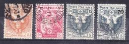 1915  CROCE ROSSA 10 + 15 + 20 Cent  USATO - 1900-44 Vittorio Emanuele III