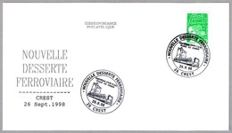 BAUTISMO DEL T.E.R. VILLE DE CREST. Crest 1998 - Trains