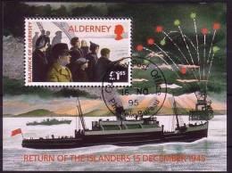Alderney Aurigny 1995 Yvertn° Bloc 1 (°) Used   Cote 8,50 Euro - Alderney