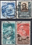 REPUBBLICA 1949/1953 - CATULLO + AGOSTINO BASSI + FESTA MONTAGNA + SANTA CHIARA- 4 SERIE COMPLETE USATE - 1946-60: Usati