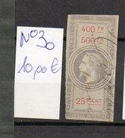 DT175L FRANCE 1 TIMBRES OBL FISCAL FISCAUX REVENUE REVENUES EFFETS COMMERCE N°30 NAPOLEON III - Revenue Stamps