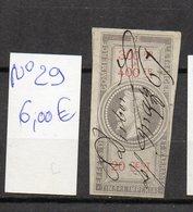 DT175M FRANCE 1 TIMBRES OBL FISCAL FISCAUX REVENUE REVENUES EFFETS COMMERCE N°29 NAPOLEON III - Revenue Stamps