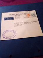 Jolie Lettre Hong Kong Affr Au Ntarif Pour Paris Cachet Violet Aviation Civile En Anglais - Hong Kong (...-1997)