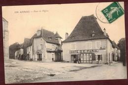 AYNAC Place De L'église épicerie Potin * Café De Paris  * Aynac Arrondissement De Figeac * Lot 46120 - France